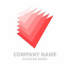 Triangle paper document abstract vector logo