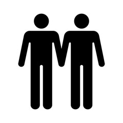 Gay marriage homosexual flat icon for apps and websites