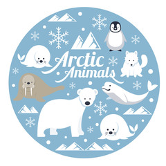 Arctic Animals, Label, Winter, Nature Travel and Wildlife