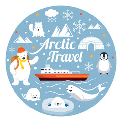 Arctic Travel, Label, Winter, Nature Travel and Wildlife
