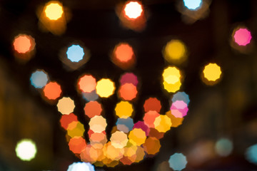 Abstract background with bokeh defocused lights