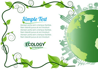 Ecology Environment Infographic / Energy  earth concept