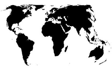 World map black on white background vector
