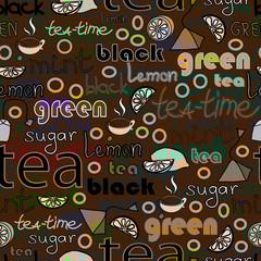 Repeating tea pattern.