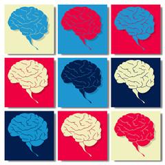 Cerveau pop art