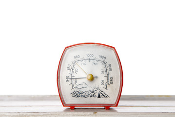 Barometer on the table