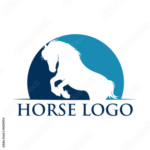 simple standing horse logo template