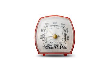 Barometer isolated on white