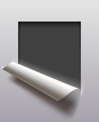 Cut paper frame
