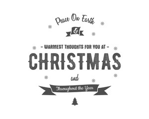 Merry Christmas lettering. Wishes Vector clipart for Holiday season cards, posters, banners, flyers and photo overlays. Hand drawn typography elements. Monochrome. Isolated on white background