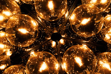 a light made from many fluorescent light bulb