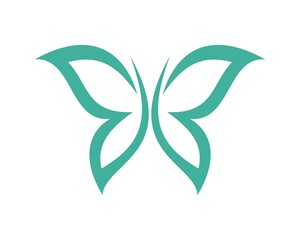 butterfly for beauty care logo template