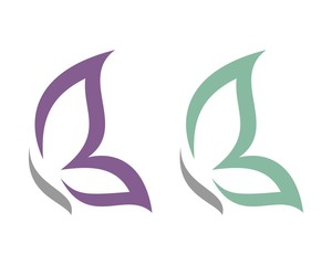 butterfly for beauty care logo template 2