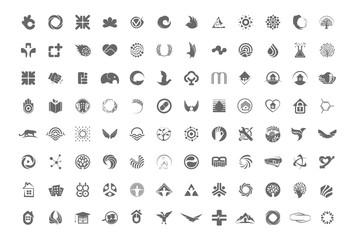 Logo big set. Logos vector collection.