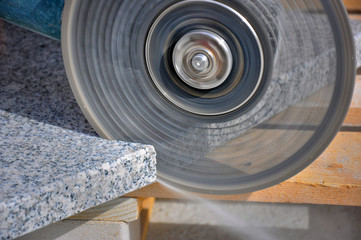Grinder, cutting marble
