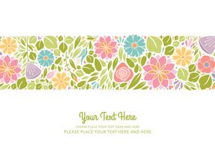 Spring Floral Design Horizontal