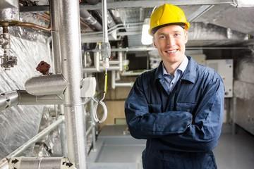 Engineer smiling at the camera