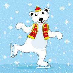 Polar bear skates.