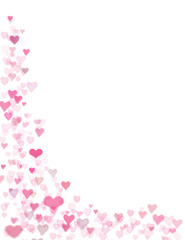 Pink hearts and copyspace