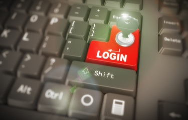 3d keyboard - secured login