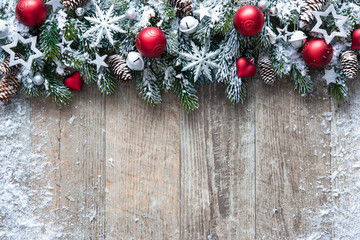 Wall Mural - Christmas background with decorations