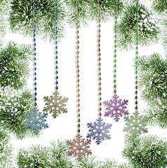 Winter Forest. Winter landscape. Christmas