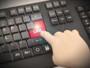 3d keyboard finger pressing law button