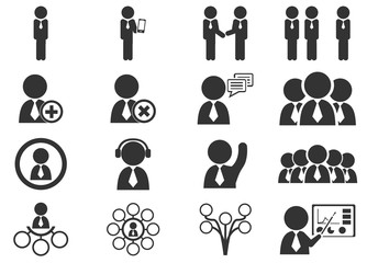 Connected people social network human
