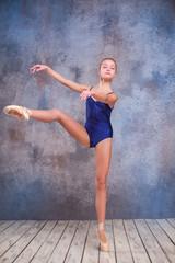 The young ballerina posing