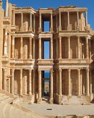 Libye, mur de scène du théâtre romain de Sabratha