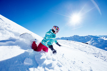 Snowboarding fail