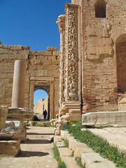 Libye, basilique de Constantin à Leptis Magna