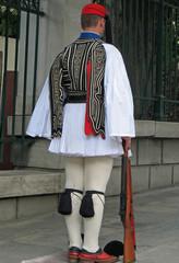 Athènes, tenue de la garde nationale grecque