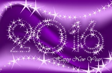 New Year greeting cards, postcards, card Happy New Year 2016