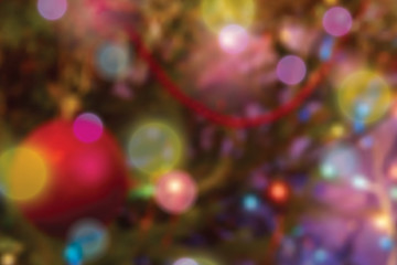 Blurred colorful christmas lights background
