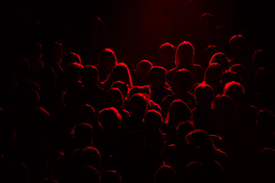 audience silhouette crowd public spectacle