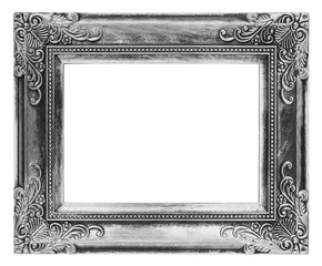 Vintage picture frame isolated on white background