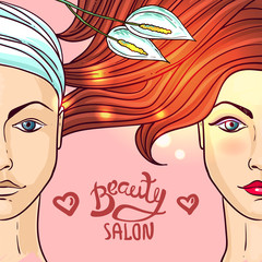 beauty salon makeup