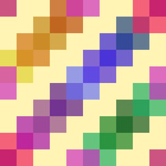 seamless pattern consisting of colored intersecting translucent squares