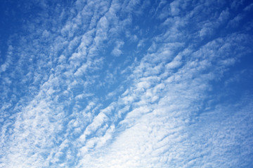 blue sky with cloud pattern