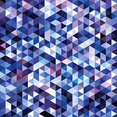 mosaic triangles on blue background