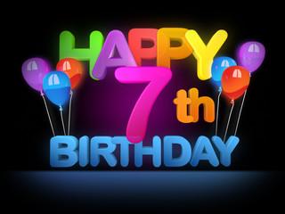 Happy 7th Birthday Title dark