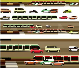 constructor set cars and roads