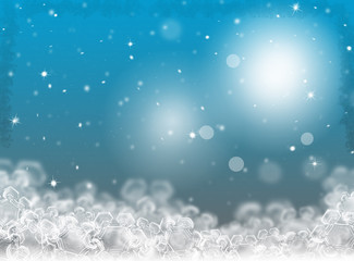 Blue Christmas background. Winter holiday background. New Year background