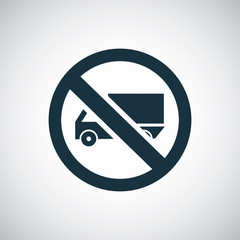 truck forbidden sign icon