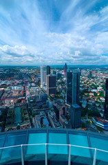 Top view of city Frankfurt am Main