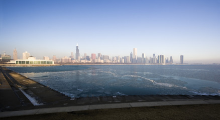 Fototapete - Icy morning in Chicago