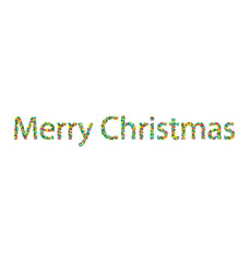 Merry Christmas lettering from colourful confetti