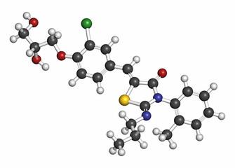 Ponesimod anti-inflammatory drug molecule (S1PR1 modulator).