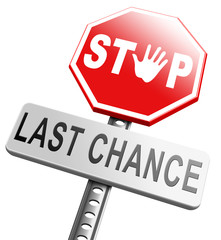 last chance now